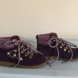 Uggs, little girl size 13 lamb fur lined boots